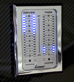 LED Indicator 2 drives,2 tabs platinum card, chrome frame